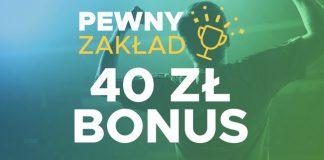 Betclic Pewny Zakład. 40 PLN jako zwrot dla każdego!