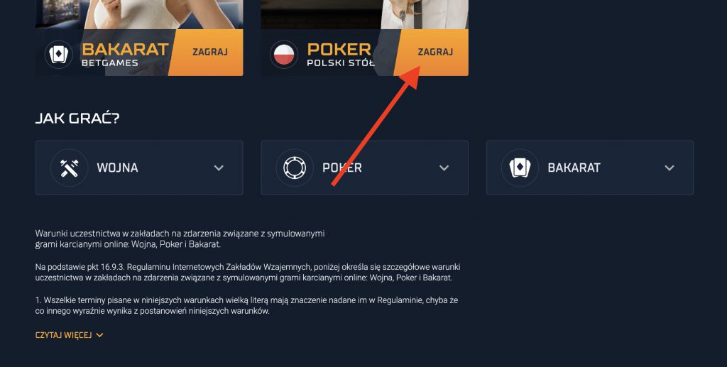 Poker po polsku w STS Betgames